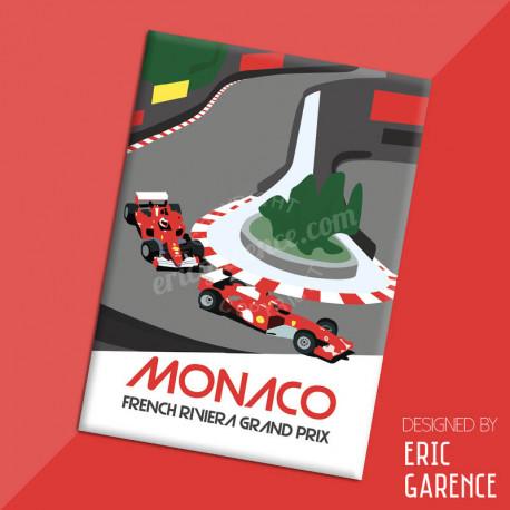 "Magnet, ""Monaco, French Riviera Grand Prix"", aimant, fridge, gift, business,"