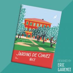"""Magnet, """"Nice - Jardins de Cimiez"""" Aimant, Eric Garence, Deco, house, gift, cadeau, business, nice, cote d'azur, artist"""