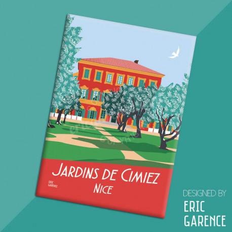 """Magnet, """"Nice - Jardins de Cimiez"""", aimant, fridge, gift, business,"""