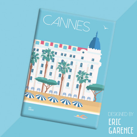 """Magnet, """"Cannes, Palaces"""", aimant, fridge, gift, business,"""