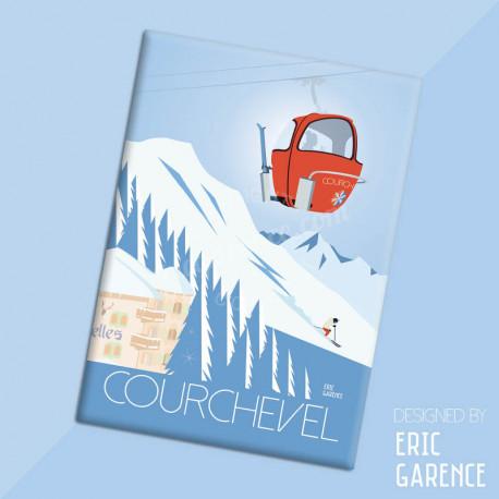 "Magnet, ""Luxe à Courchevel"" Aimant, Eric Garence, Deco, house, gift, cadeau, business, nice, cote d'azur, artist"