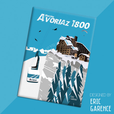"Magnet, ""Avoriaz 1800"", aimant, fridge, gift, business,"