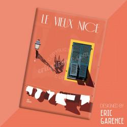 """Magnet, """"Le Vieux Nice et le Roi du Carnaval"""" Aimant, Eric Garence, Deco, house, gift, cadeau, business, nice, cote d'azur, arti"""