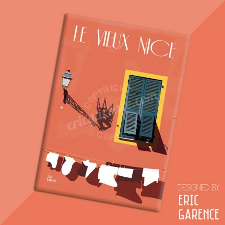 """Magnet, """"Le Vieux Nice et le Roi du Carnaval"""", aimant, fridge, gift, business,"""