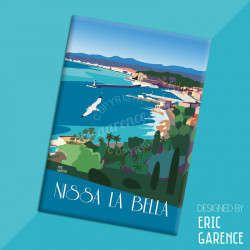 "Magnet, ""Nissa la Bella"", aimant, fridge, gift, business,"
