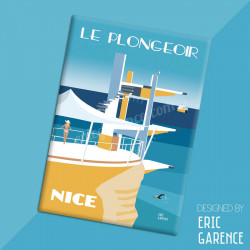 "Magnet, ""Le Plongeoir, 2020"", aimant, fridge, gift, business,"