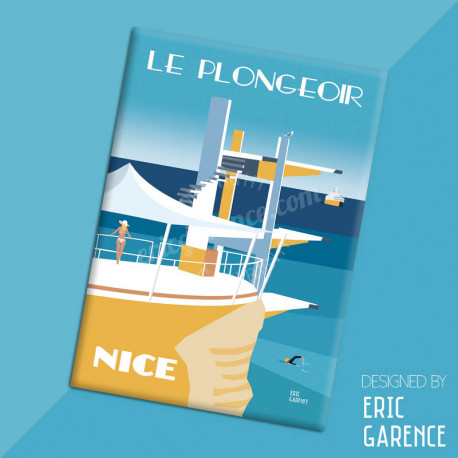 "Magnet, ""Le Plongeoir, 2020"", aimant, fridge, gift, business,"