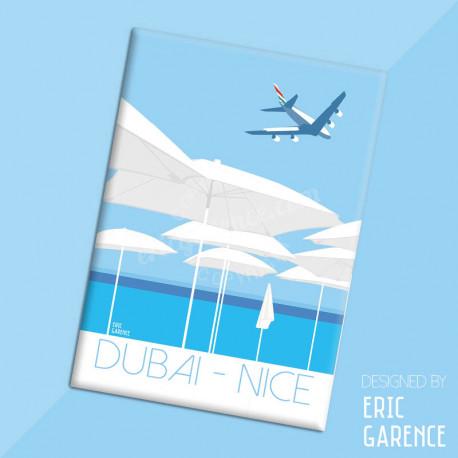 """Magnet, """"Dubai - Nice en A380"""" Aimant, Eric Garence, Deco, house, gift, cadeau, business, nice, cote d'azur, arti"""
