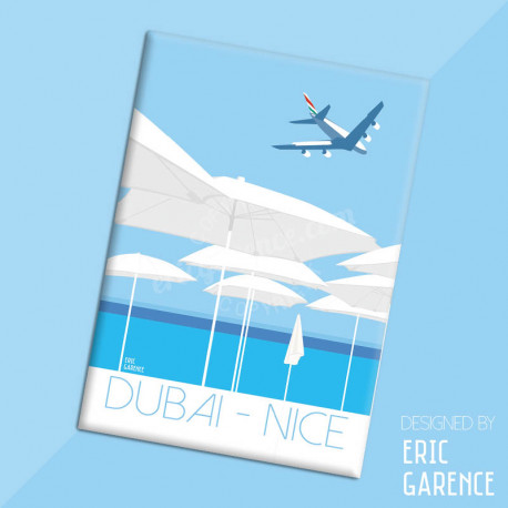 "Magnet, ""Dubai - Nice in A380"", aimant, fridge, gift, business,"