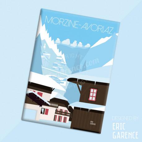 "Magnet, "" Dahu à Morzine - Avoriaz"" Aimant, Eric Garence, Deco, house, gift, cadeau, business, nice, cote d'azur, arti"
