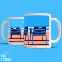 "Mug ""Our 4 blue chairs, Nice"""