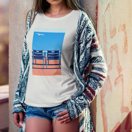 "T-shirt ""Nos 2 Chaises Bleues "" by Eric Garence, artiste, nicois, design, art, phoenix, nice, artwork"