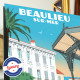 Poster Beaulieu sur Mer le Kiosque by Eric Garence, French Riviera aluminim plexiglass paper original limited
