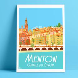 Menton, Capitale du Citron, 2017, 70x100cm