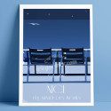 Nos 2 Chaises bleues by night, 2021