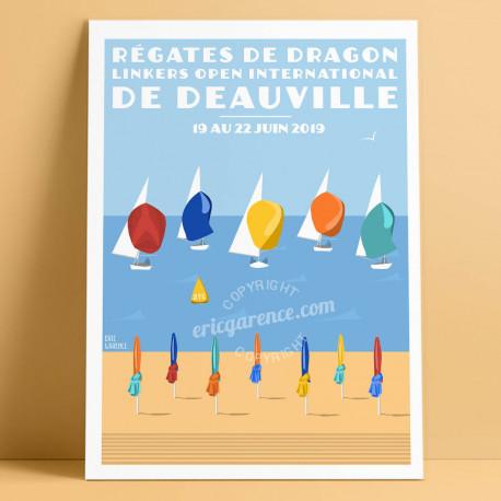 Régates de Dragon de Deauville, 2019 - Official Poster by Eric Garence