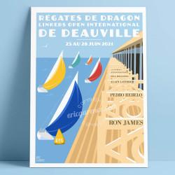 Régates de Dragon de Deauville, 2021 - Affiche Officielle by Eric Garence