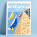 Régates de Dragon de Deauville, 2021 - Official Poster