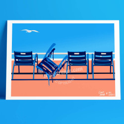 Nos Chaises bleues twisted by César Malfi