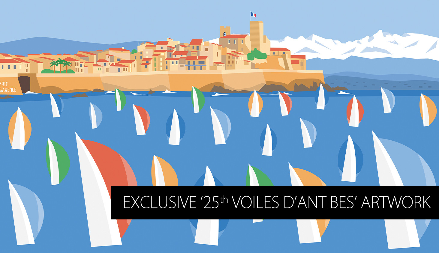 Poster of the 25th Voiles d'Antibes