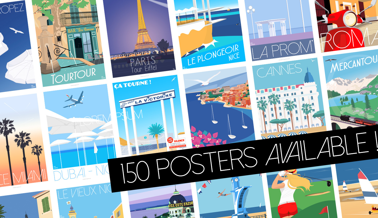 150 affiches