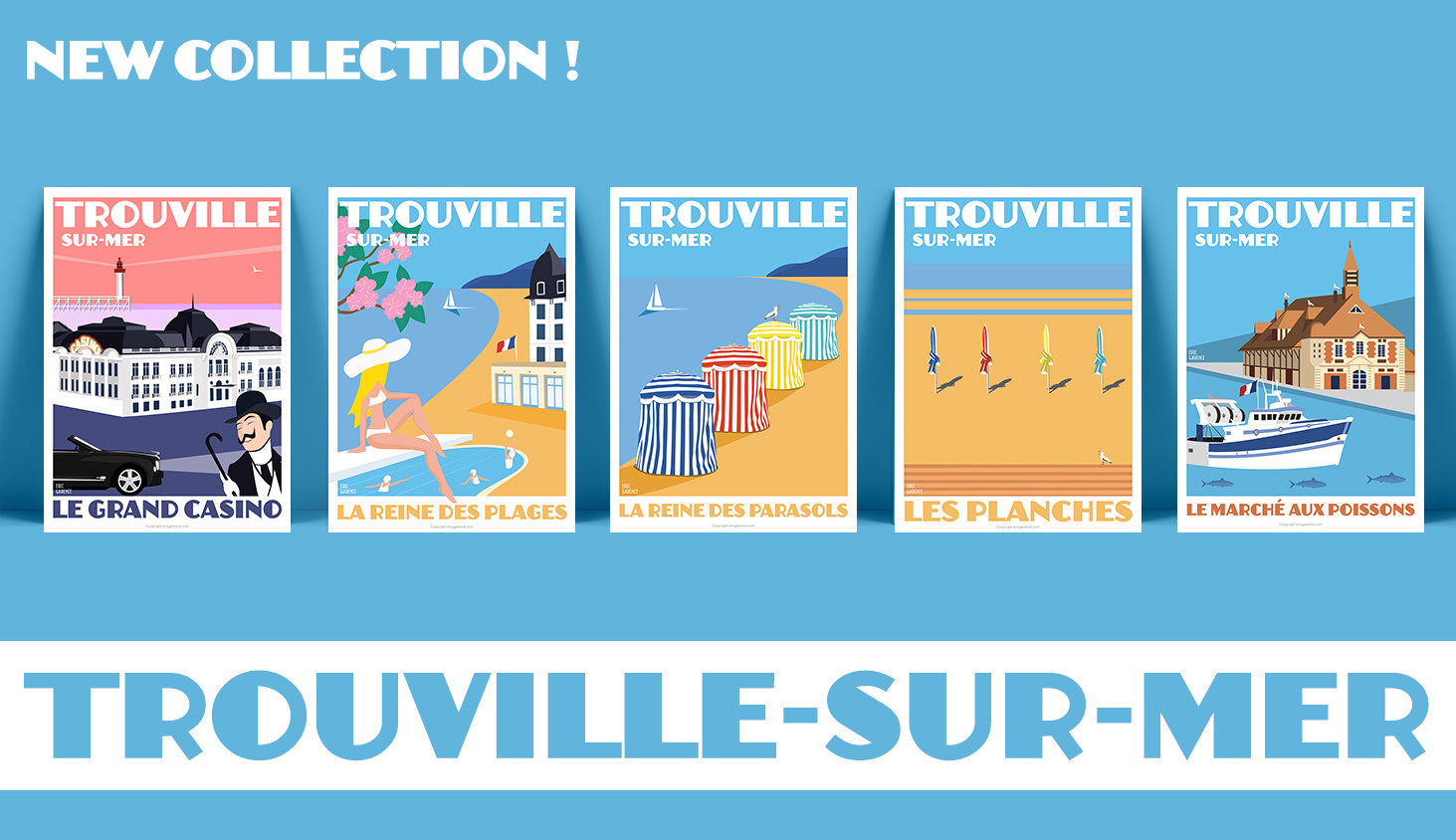 Affiches Trouville-sur-mer - Collection Eric Garence