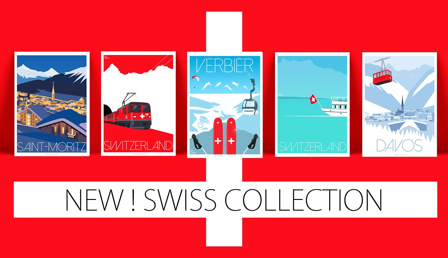 Swiss Collection Posters by Eric Garence