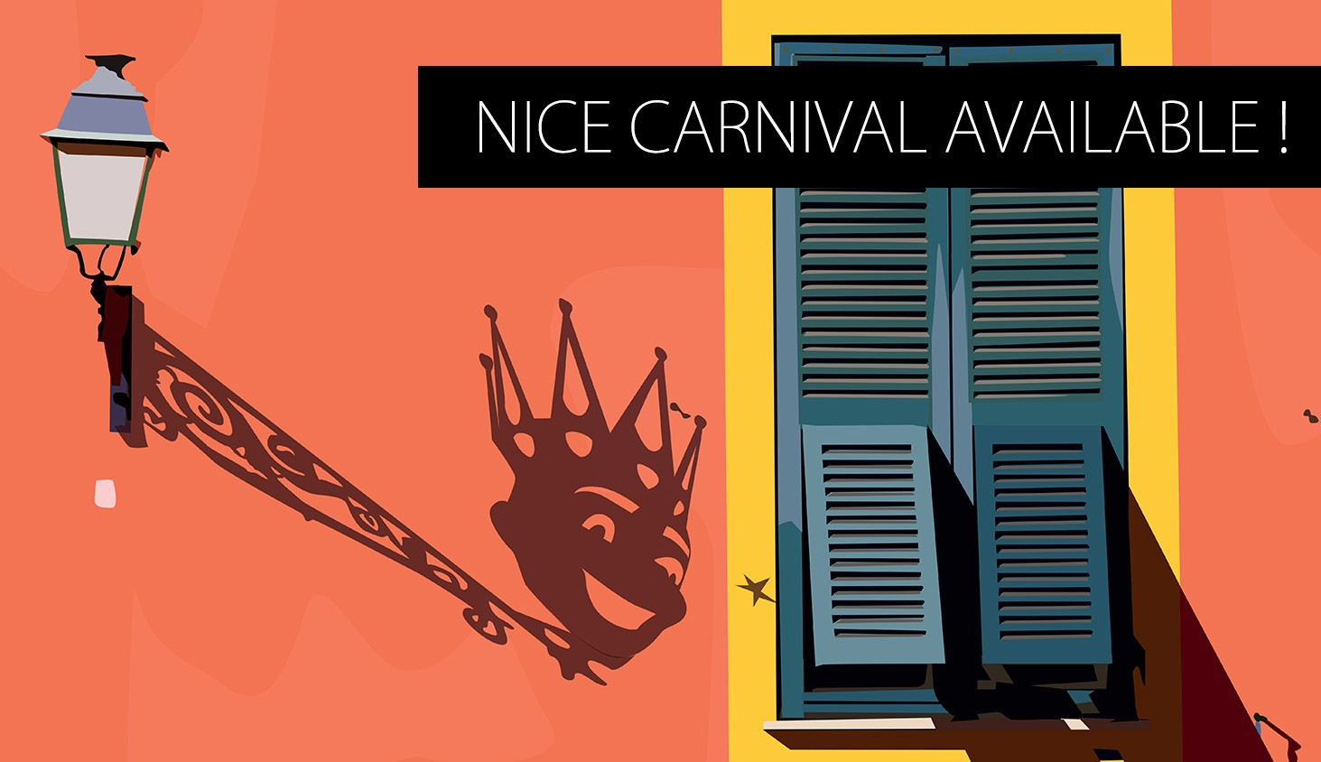 Nice Carnival King in the old city
