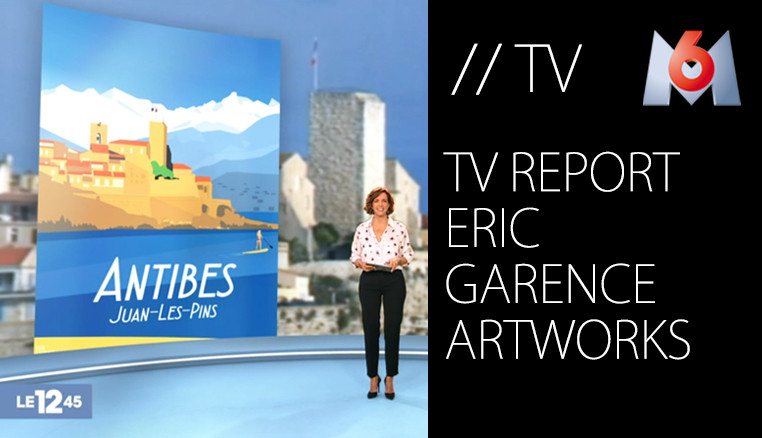 M6 TV Report on Eric Garence Artworks